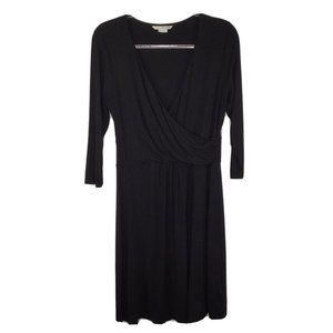 Boden Wrap Front Dress US 10 UK 14 Black